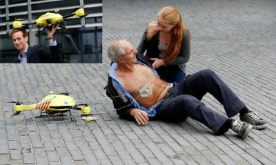 Defibrillation Machine Drone developed in Holland